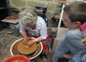 Démonstration de poterie