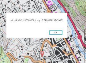 calcul de coordonnées sur carte