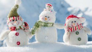 vacances hiver bonhomme neige