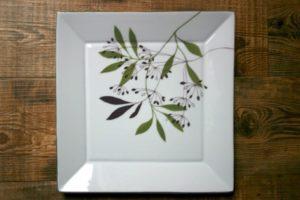 peinture sur porcelaine assiette nature