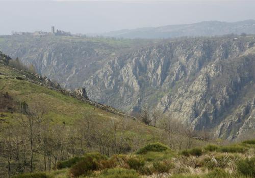 canyon du Chassezac devant la garde Guérin