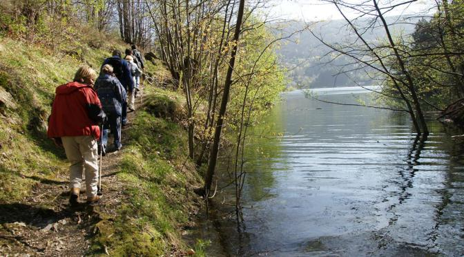 longeant le lac
