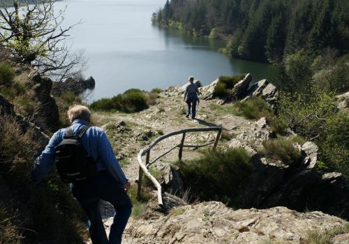 au bord du lac de Villefort