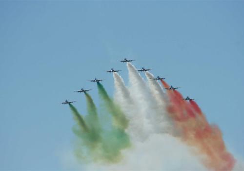 équipe acrobatique aériene d'Italie, meeting aérien de Salon de Provence 2013