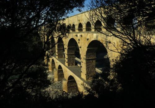 Le pont du Gard - amont