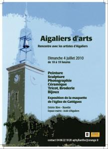 affiche : Aigaliers d'Arts