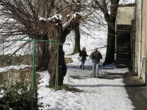 passage au hameau du col de Mercou