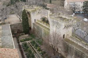 vue des jardins du château depuis le toit