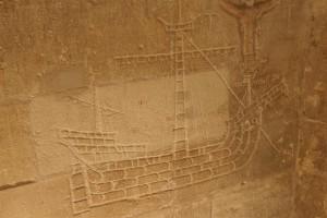 graffiti sur un mur de cachot