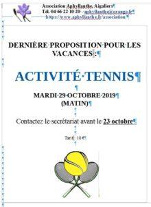 Tennis à l'Aphyllanthe