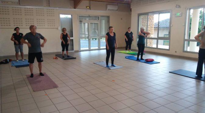 Reprise des cours de gym